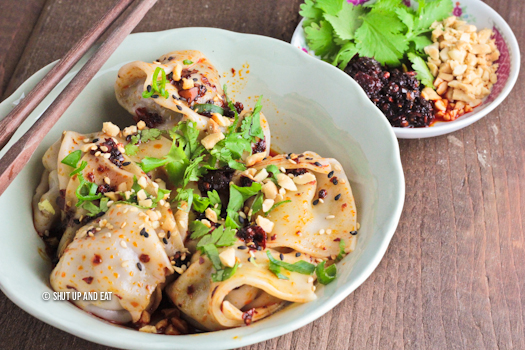 Beef and coriander dumplings