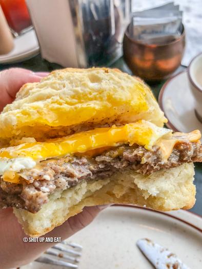 Dinette triple crown breakfast sandwich