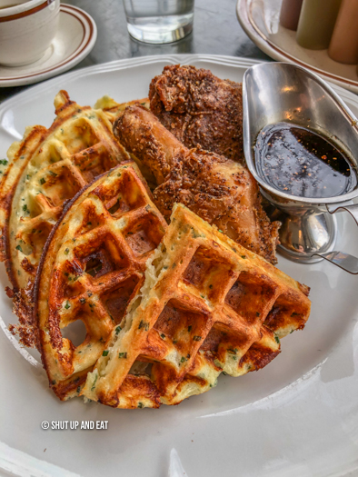 Dinette triple crown fried chicken and waffles